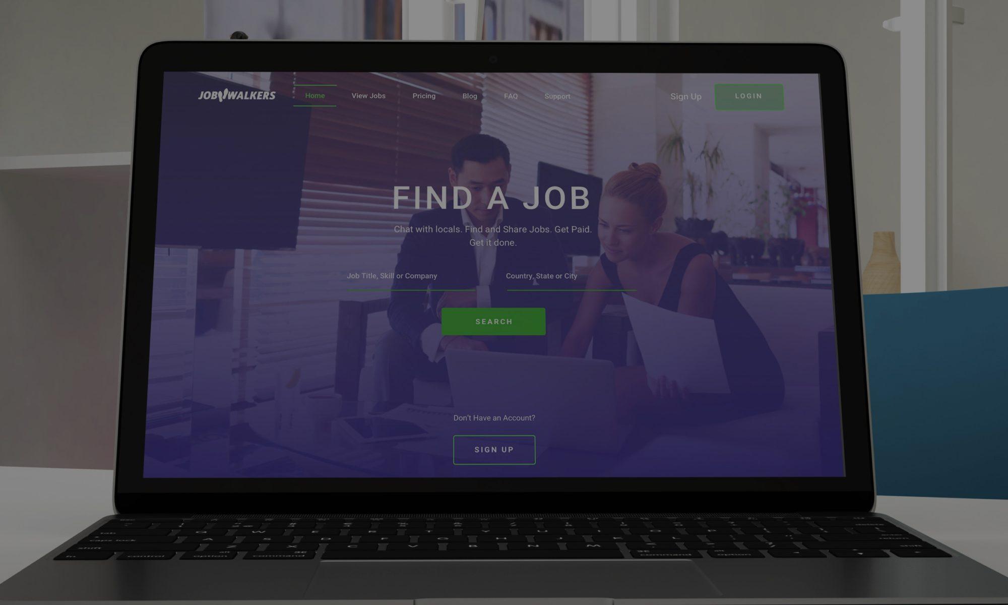 Jobwalkers Homepage Macbook