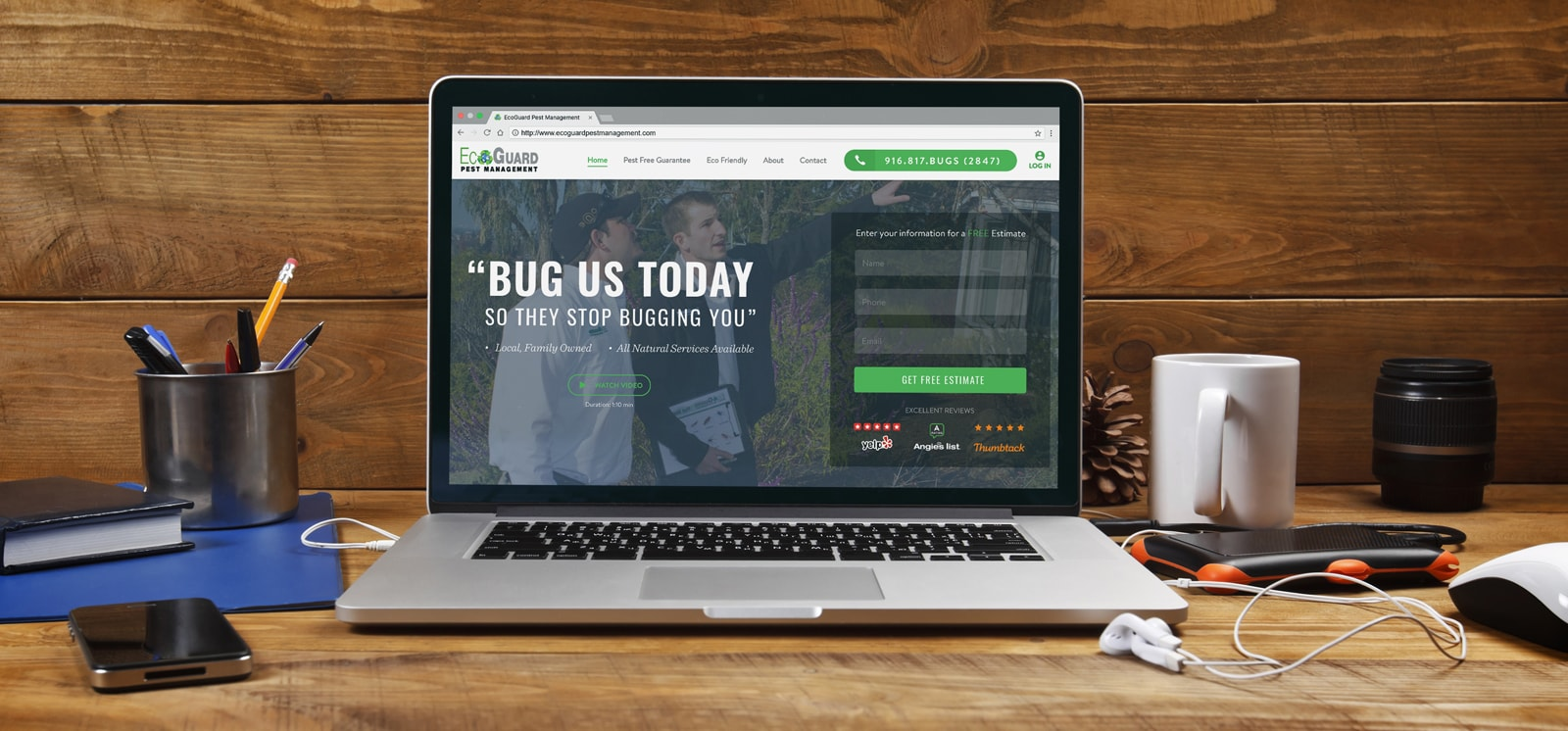 EcoGuard Pest Management Website Design