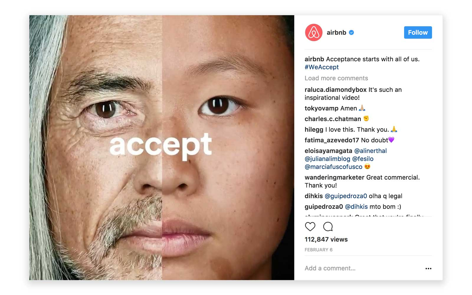 airbnb weaccept instagram post