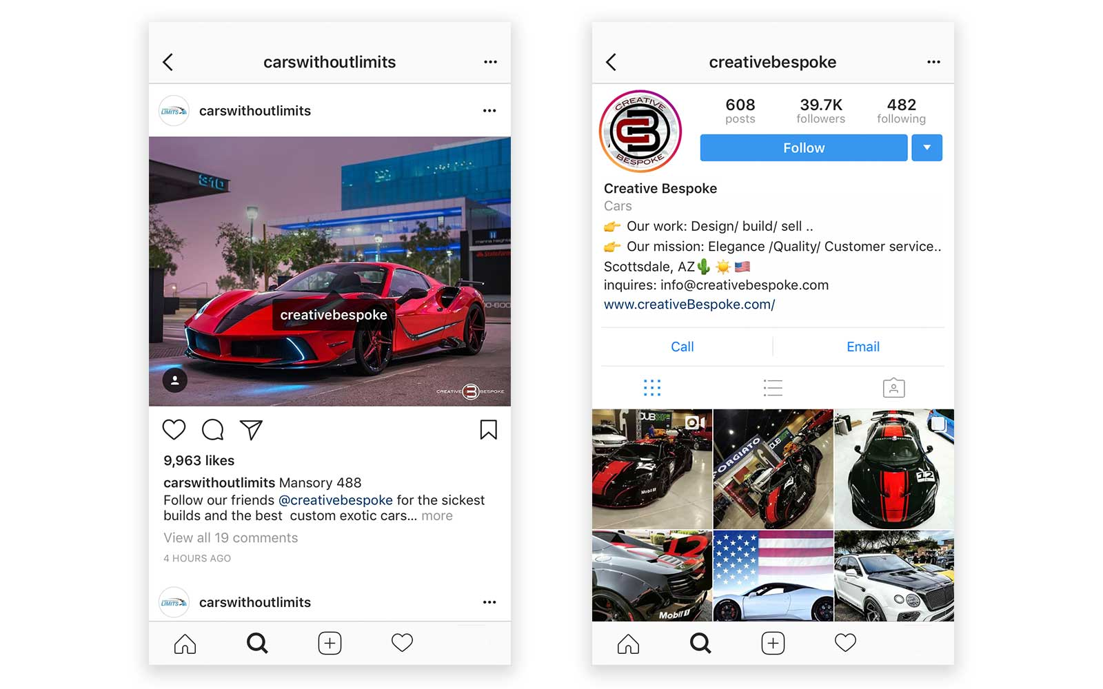 instagram tagging creativebespoke carswithoutlimits